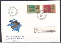 Liechtenstein/1974 - UPU Centenary/100 Jahre Weltpostverein/Centenaire De L'UPU - Set - FDC - FDC