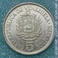 Venezuela 5 Bolívares, 1989 ↓price↓ - Venezuela
