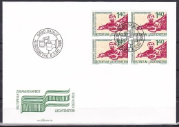 Liechtenstein/1988 - Cultural Co-operation/Gemeinschaftsausgabe Zusammenarbeit/Commune Collaboration - 1.40 Fr Block - F - FDC