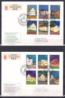 Liechtenstein/1978 - Buildings/Bauten/Batiments - Set - 2 X FDC - FDC