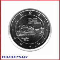 MALTA - 2 € COM. 2018 UNC - TEMPELS VAN MNAJDRA - Malta