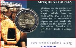 MALTA - COINCARD 2 € COM. 2018 BU - TEMPELS VAN MNAJDRA - Malte