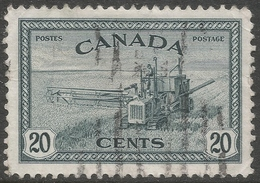 Canada. 1946-47 Peace Re-conversion. 20c Used. SG 404 - 1937-1952 Reign Of George VI
