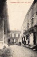 32)  MIRADOUX COMMERCE  SOUBSOL  PLACE DE LA HALLE  BELLE ANIMATION -écrite 1930 - Otros Municipios