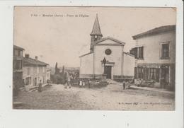CPA - ROCHE - Place De L'Eglise - Cachet 30 E Et 70 E Bataillon De Chasseurs - Other Municipalities