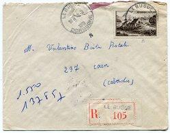 DORDOGNE De LE BUGUE    Env. Recom. De 1951   Avec Dateur  A 5 - Marcophilie (Lettres)
