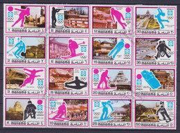 Manama 1971 Mi. 376-91 A Olympic Games Olympische Winterspiele, Sapporo 16-Block - Manama