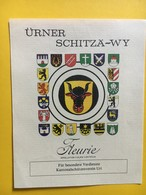 8686 - Ürner Schitz!a Wy Vin Du Tir Cantonal D'Uri  Suisse Fleurie,,,,, - Etiquettes