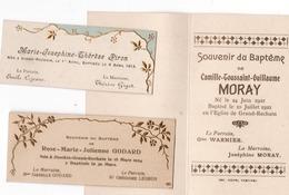 GRAND RECHAIN ( Herve ) 3 Souvenirs De Baptême Piron 1913 / Moray 1921 / Godard 1924 - Birth & Baptism