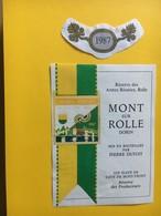 8687 - Réserve Des Armes Réunies Rolle Suisse Dorin Mont Sur Rolle  1987 - Etiquettes
