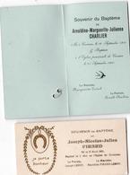 CORNESSE ( Pepinster ) Souvenirs De Baptême Charlier 1910 / Pirard 1921 - Birth & Baptism