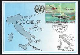 UN United Nations RICCIONE 1997 TRANSPORTS Airplane Aircraft - Italy Geneva - Genf - Büro Der Vereinten Nationen