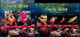 Tuvalu 2018 Pacific Shrimp MS + SS MNH - Crostacei