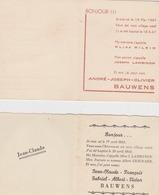 VAUX-sous-CHEVREMONT ( Chaudfontaine ) Bauwens Souvenirs De Baptême 1944 & 1947 - Birth & Baptism