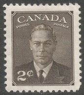 Canada. 1949-51 KGVI. 2c Brown MH. SG 415 - 1937-1952 Reign Of George VI