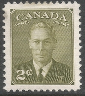 Canada. 1949-51 KGVI. 2c Olive MH. SG 415a - 1937-1952 Reign Of George VI