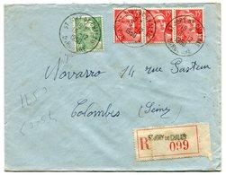 DORDOGNE De SAINT JORY DE CHALAIS    Env. Recom. De  1950   Avec Dateur  A7 - Marcophilie (Lettres)