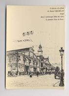 PREMIÈRE FOIRE DE PARIS - 1904 - Marché Du Temple - Dessin à La Plume De Marcel Brimeau - Foires