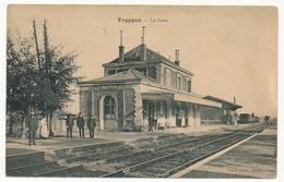 CPA - TRAPPES (Seine Et Oise) - La Gare ( Cachet 5eme Régiment Du Génie Place De Versailles) - Trappes