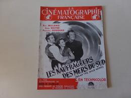 """Magazine """" La Cinématographie Française """" N° 1229, Octobre 1947 """" John Wayne Dans Les Naufragés Des Mers Du Sud """" - Magazines"""