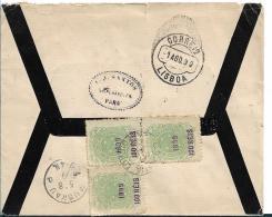 Bra027 / Brasilien, Überdruck Von 1899 (3 X) Von Para Nach Muskau / Schlesien, über Lissabon - Lettres & Documents