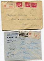 DORDOGNE De TOURTOIRAC  2   Env. Recom. De  1946 1950    Avec Dateur  A 3 - Marcophilie (Lettres)