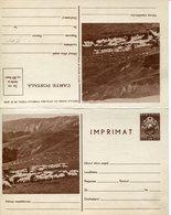 36400 Romania,  Double Stationery Card Imprimat/ Showing Flock Of Sheep,troupeau De Moutons,Schafherde - Interi Postali