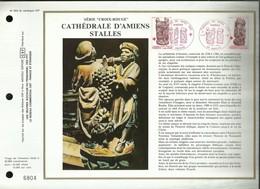 CEF N° 562 . SERIE CROIX - ROUGE . TIMBRES DE NOËL .  CATHEDRALE D'AMIENS . STALLES . 06 DECEMBRE 1980 . AMIENS . - FDC