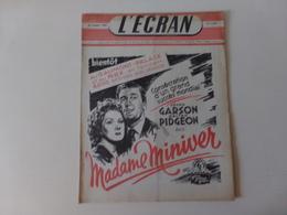 "Magazine "" L'écran "" N° 1244, Novembre 1946 "" Walter Pidgeon Dans Madame Miniver "" - Magazines"