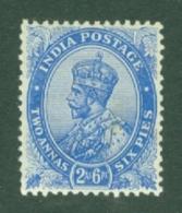 India: 1911/22   KGV      SG171    2a 6p           MH - India (...-1947)