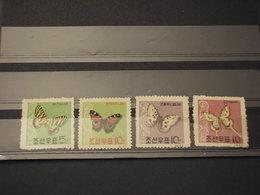 COREA NORD - 1962 FARFALLE 4 VALORI - NUOVI(++) - Corée Du Nord