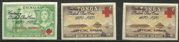 Tonga - 1970 Red Cross (officials Airs) Set Of 3  MNH   Sc CO34-6 - Tonga (1970-...)
