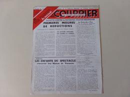 """Magazine """" Le Courrier Du Centre Du Cinéma """" Août 1949 """" La Lutte Contre Les Patentes """" - Magazines"""
