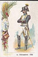 CHROMO--RARE-la Chicorée G. BLACK-usine à SAINTE OLLE Près CAMBRAI---cuirassiers 1791--voir 2 Scans - Thé & Café
