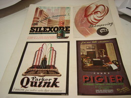 ANCIENNE AFFICHE PUBLICITE  SILEXORE -GIBBS -PARKER -PIGIER  1943 - Advertising