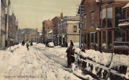 SYDNEY, CAPE BRETON (N.S.) - Charlotte Street In Winter - Publ. Walter Hall. - Cape Breton