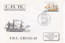 UFITE. BARCOS ANTIGUOS EN EL URUGUAY. FDC. OBLITERE 1996. CORREOS DE URUGUAY- BLEUP - Uruguay