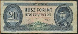 °°° HUNGARY - 20 FORINT 1969 °°° - Ungheria