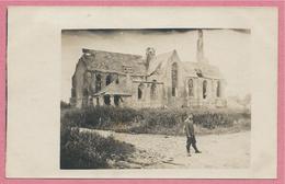 West-Vlaanderen - Flandre Occidentale - Carte Photo - Foto - WOUMEN - DIKSMUIDE - Kirche - Guerre 14/18 - Carte C44 - Diksmuide