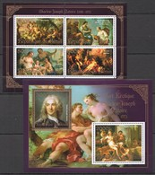 S111 2013 BENIN PRIVATE ISSUE EROTIC ART GOLD CHARLES-JOSEPH NATOIRE 1KB+1BL MNH - Art