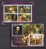 S112 2013 BENIN PRIVATE ISSUE EROTIC ART SILVER PIETRO DA CORTONA 1KB+1BL MNH - Art