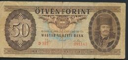°°° HUNGARY - 50 FORINT 1969 °°° - Ungheria