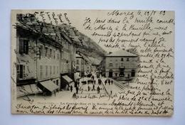 39 - Carte Précurseur 1903 -  MOREZ  - La  Grande Rue Et La Roche Au Dode - Morez