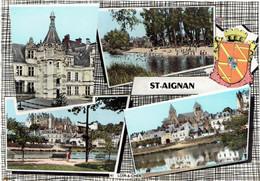 CPSM FRANCE 41 LOIR-ET-CHER SAINT-AIGNAN-SUR-CHER - Multivues - Saint Aignan