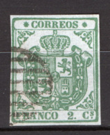 Spagna 1854 Unif.28 O/Used VF/F - 1850-68 Regno: Isabella II