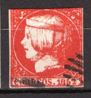 Spagna 1852 Unif.14 O/Used - Gebraucht