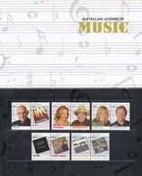 Australia ASC 3055-3064 2013 Australian Legends Of Music Set MNH - 2010-... Elizabeth II