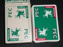 Rare Jeu De 54 Cartes, Publicitaire PEC Pastis Marseillais Avec Joker - 54 Cartes