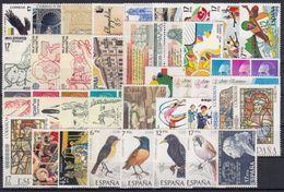 ESPAÑA 1985 Nº 2778/2824 AÑO NUEVO COMPLETO,45 SELLOS,1 HB - España