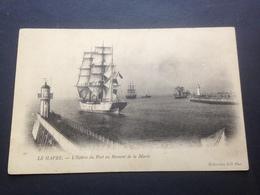 LE HAVRE - L`ENTREE DU PORT AU MOMENT DE LA MAREE - Segelboote